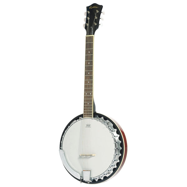 Martinez 6-String Mahogany Banjo (Natural Gloss)