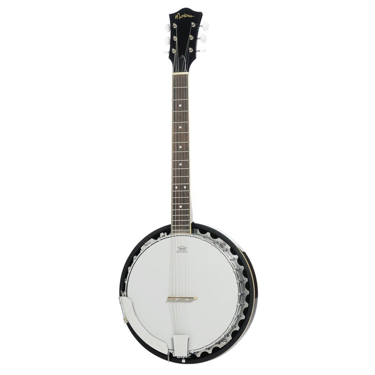 Martinez 6-String Mahogany Electric Banjo (Natural Gloss)