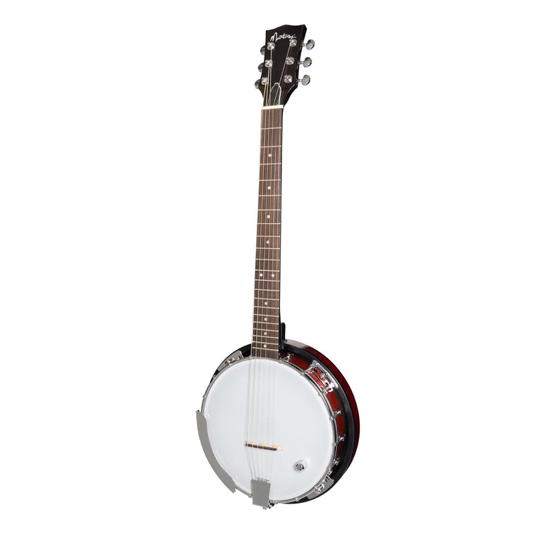 Martinez 6 String Resonator Back Banjo (Sunburst)