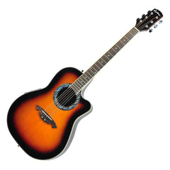 Martinez Acoustic-Electric Roundback Cutaway Guitar (Tobacco Sunburst)