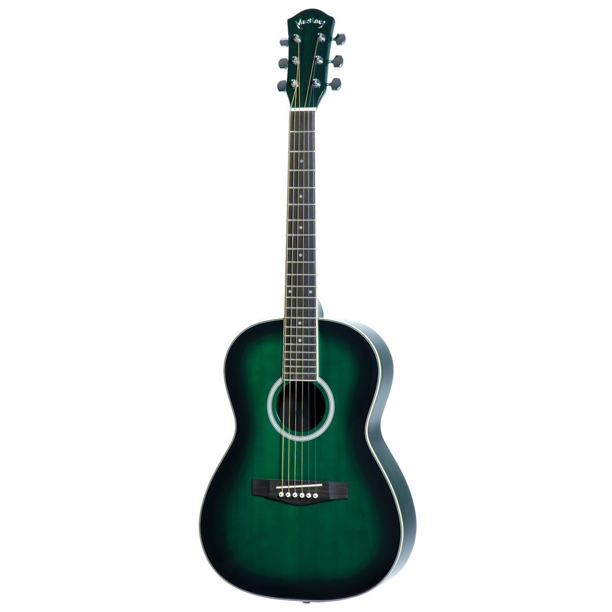 Martinez Beginner Acoustic Small-Body Guitar (Greenburst)-MF-38-GRS-Australia