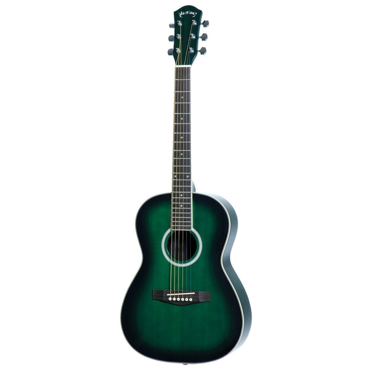 Martinez Beginner Acoustic Small-Body Guitar (Greenburst)