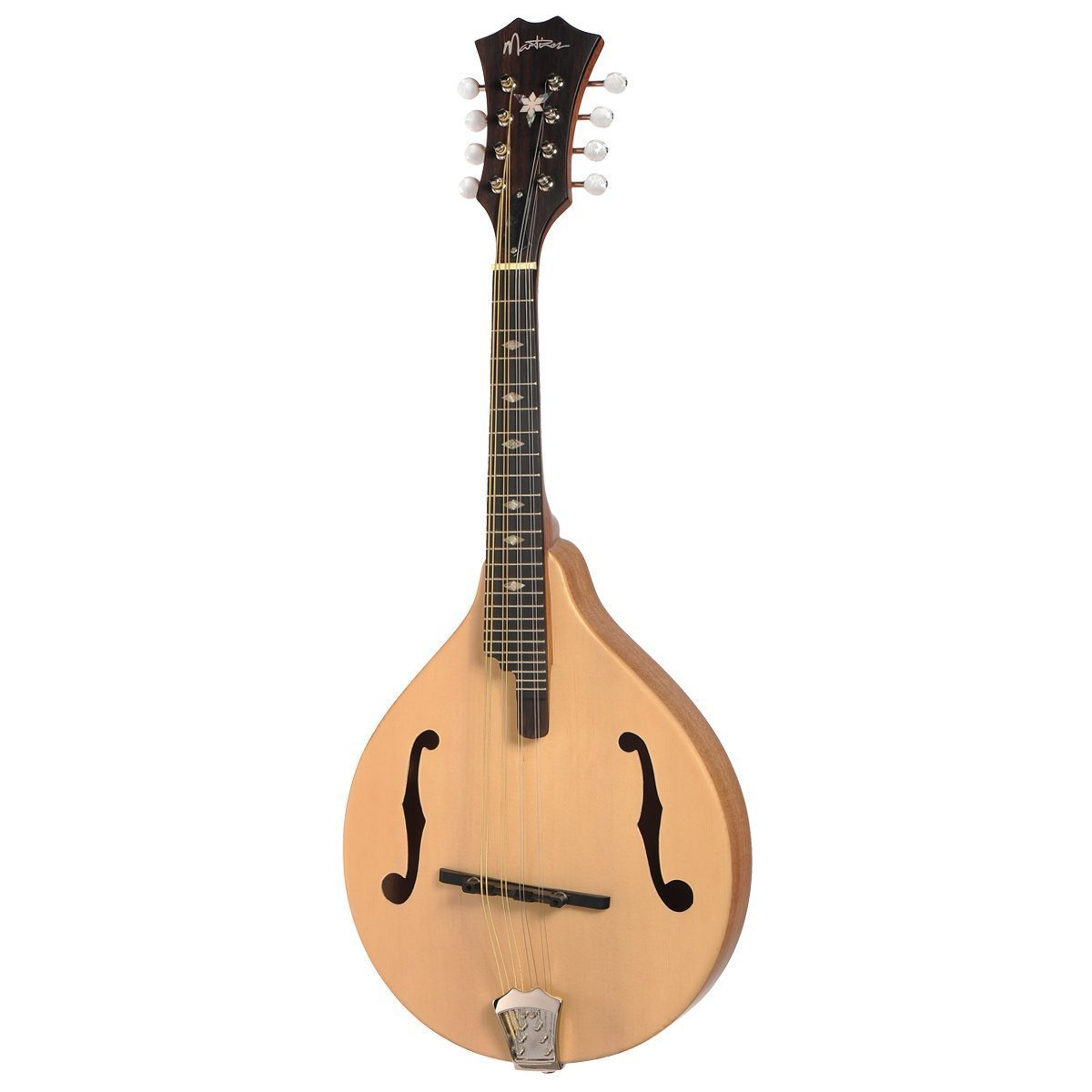 Martinez Gypsy Mandolin with Deluxe Gig Bag (Natural Satin)