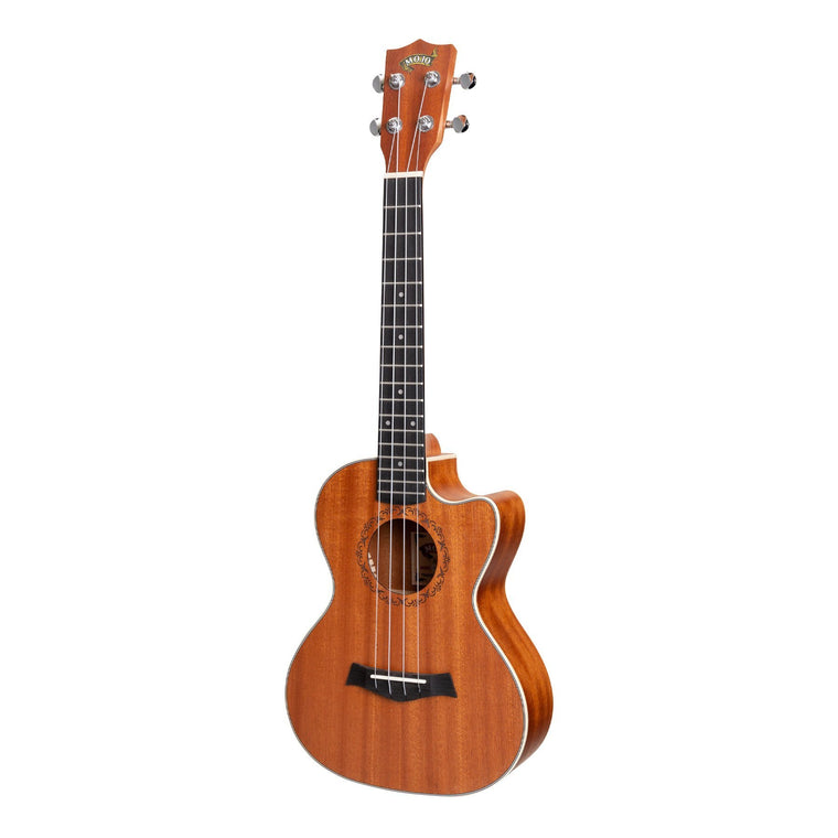 Mojo 'Traditional Series' All Mahogany Cutaway Tenor Ukulele with Gig Bag (Natural Satin)