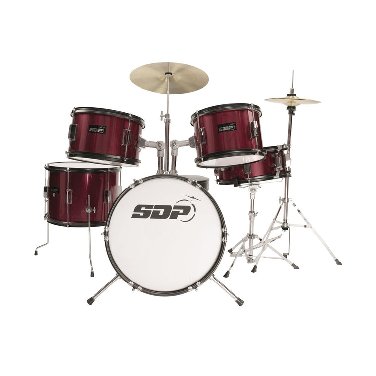 Sonic Drive 5-Piece Premium Middy Drum Kit (Metallic Wine Red)