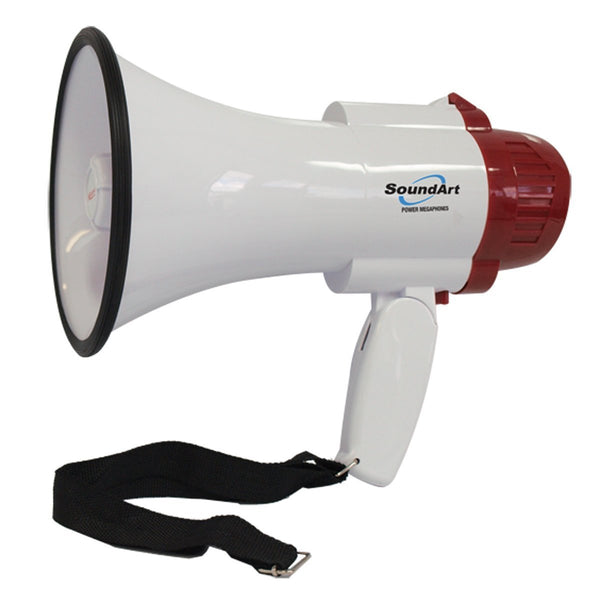 SoundArt 10 Watt Portable Hand-Held Megaphone with 10-Second Record/Playback (Red)