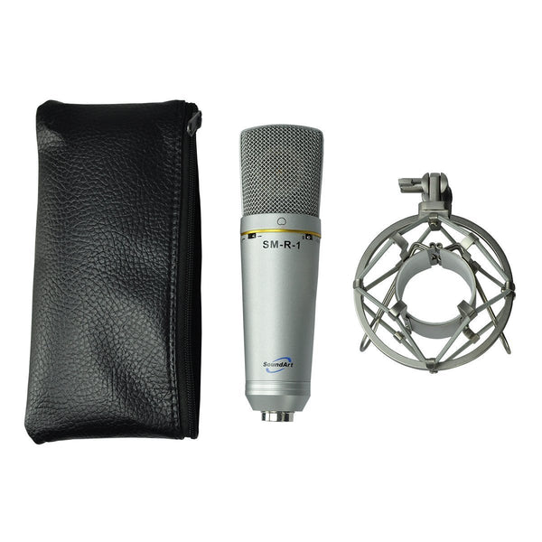 SoundArt Large Diaphragm Professional Condenser Microphone with Cradle