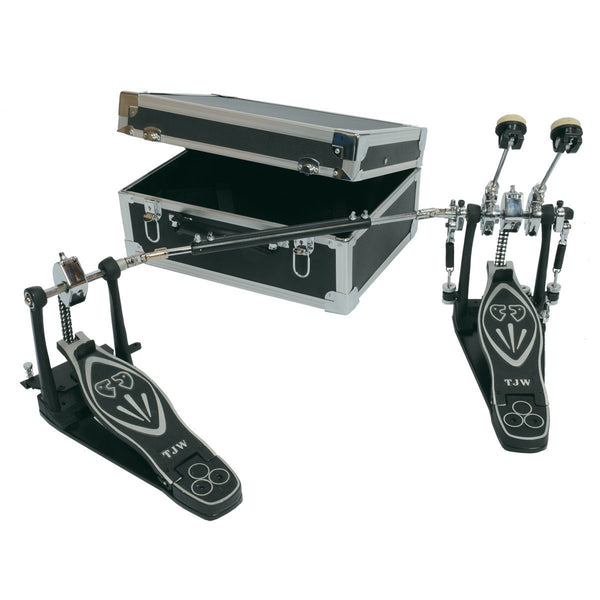 TJ Wilco Premium Double Bass Drum Pedal with Touring Case