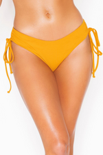 Mimosa Drawstring Cheeky Bikini Bottom