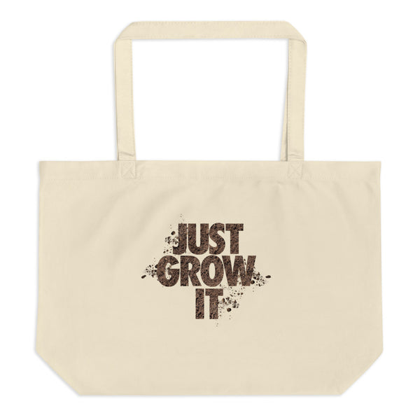 JUST GROW IT- Large organic tote bag