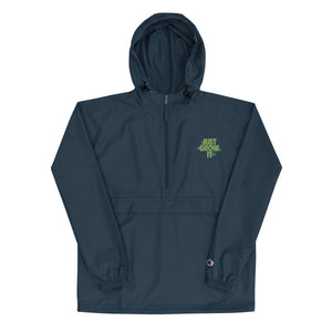JUST GROW IT Embroidered Champion Rain Jacket