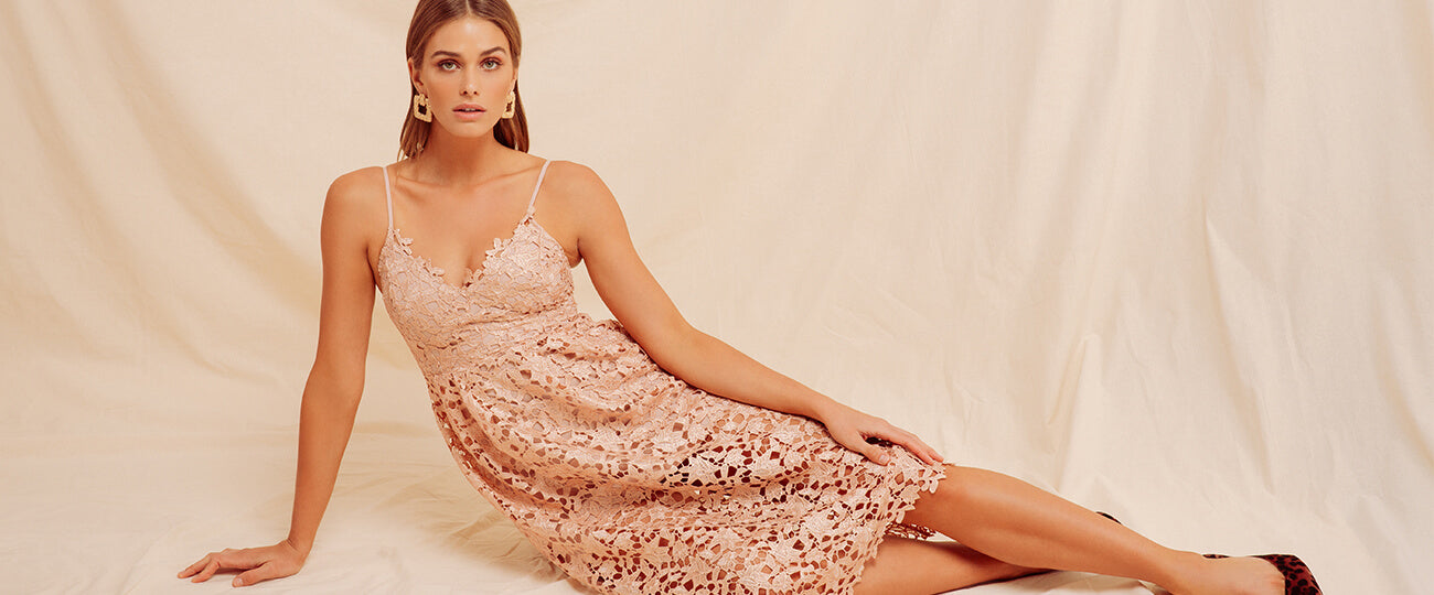 The Lace Midi Dress