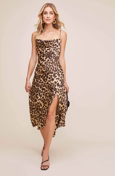 Gaia Animal Midi Dress