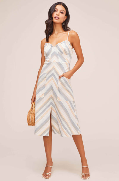 Anouk Striped Midi Dress