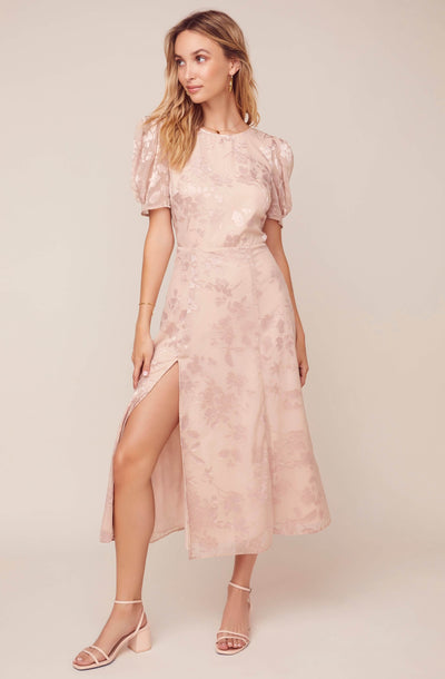 Monarch Floral Jacquard Midi Dress