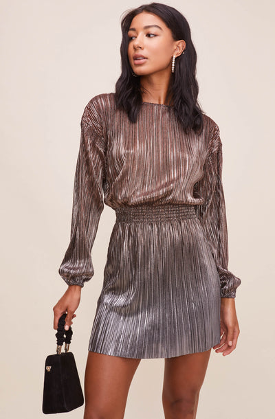 Janelle Metallic Ombre Dress