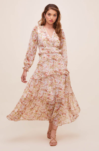 Fleur Tiered Floral Maxi Dress