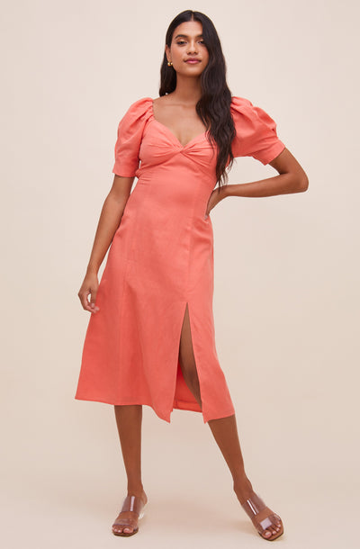 Fern Puff Sleeve Midi Dress