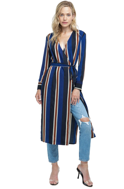 Long Sleeve Front Tie Dress
