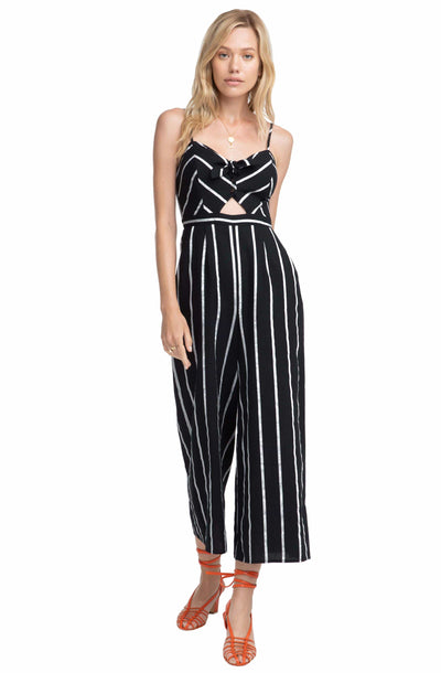 Dylan Striped Cutout Jumpsuit