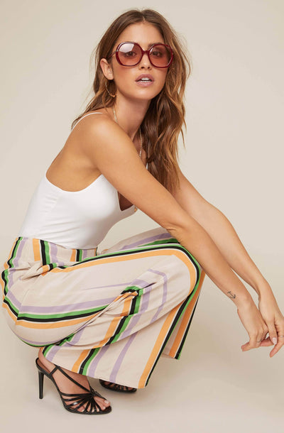 Burke Striped Wide Leg Pants