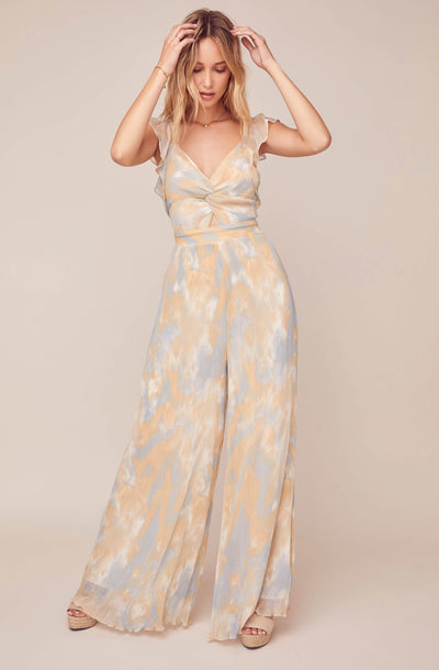Golden Hour Tie Dye Plisse Jumpsuit