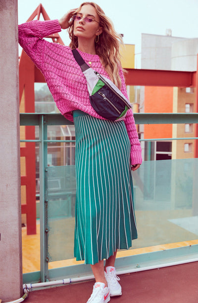 Yuri Pleated Midi Skirt