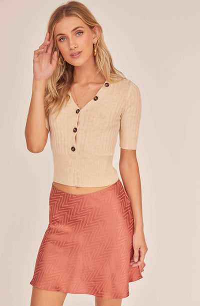 Venus Chevron Mini Skirt