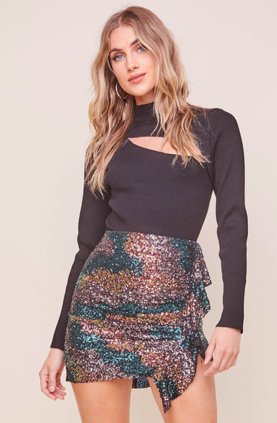 Afterglow Sequin Mini Skirt