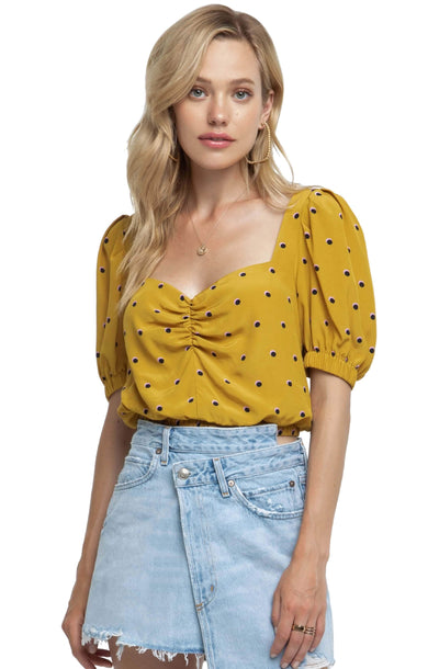 Drew Polka Dot Crop Top