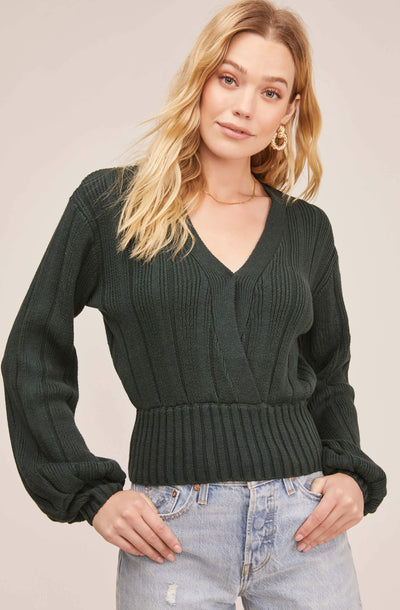 Evie Wrap Sweater