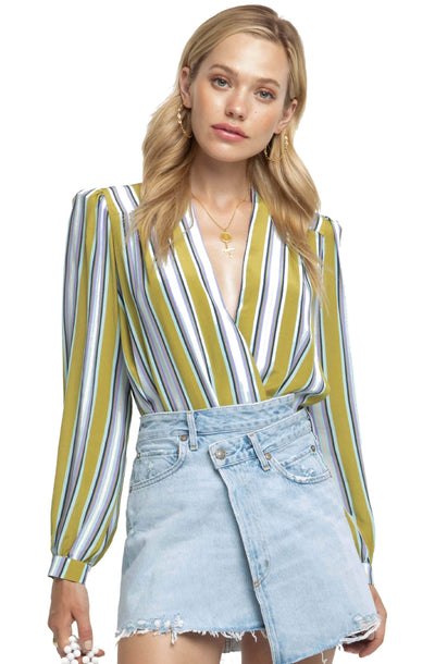 Quinn Striped Bodysuit