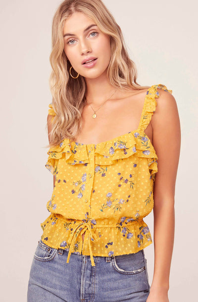 Donna Floral Top