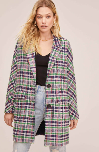 Keller Plaid Coat