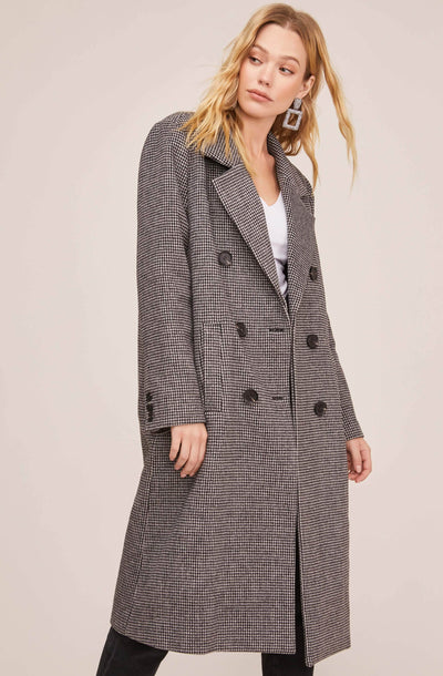 Vernon Houndstooth Coat