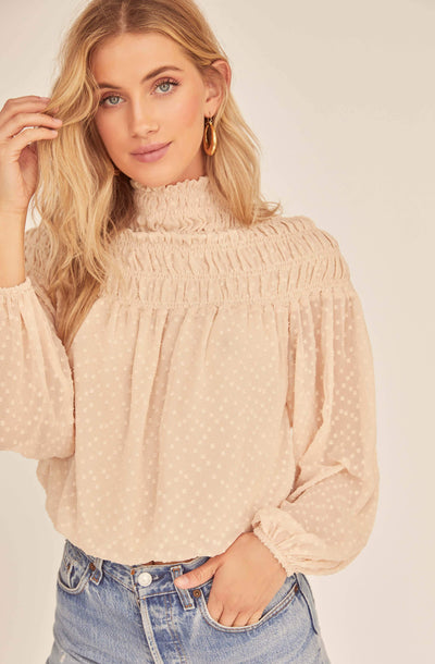 Libra Mock Neck Top