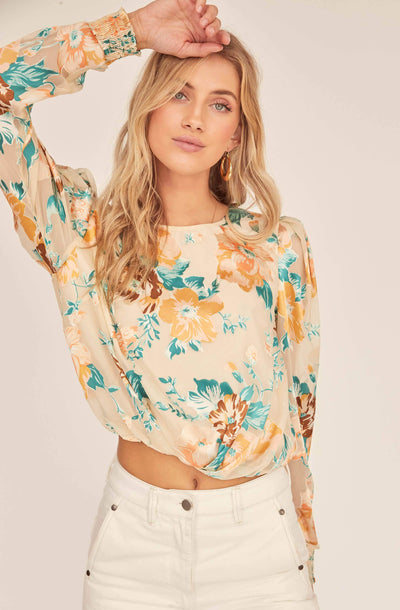 Muffy Floral Jacquard Top