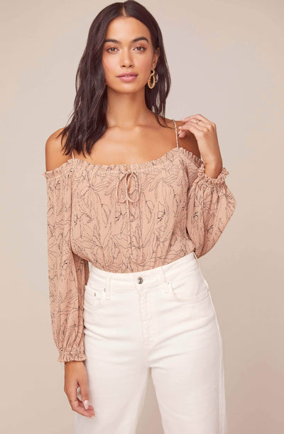 Nirvana Floral Off Shoulder Bodysuit
