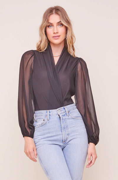 Cherish Wrap Front Bodysuit