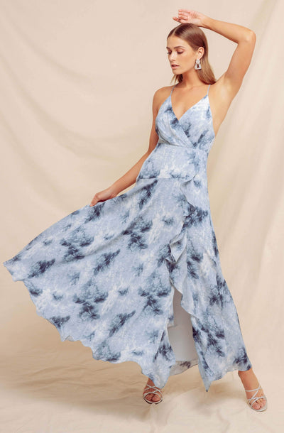 Holland Ruffle Tie Dye Maxi Dress