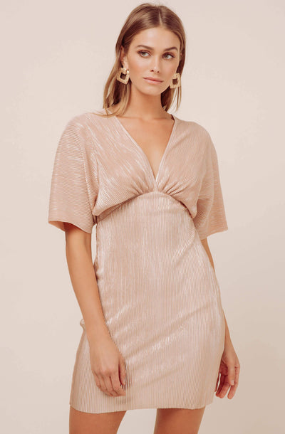 Metallic Dolman Mini Dress