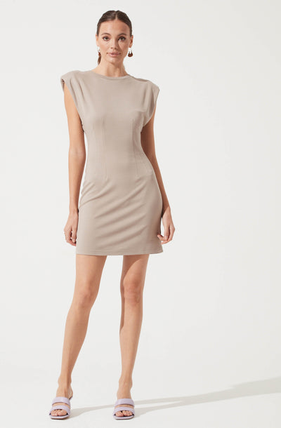 Volume Shoulder T-Shirt Dress