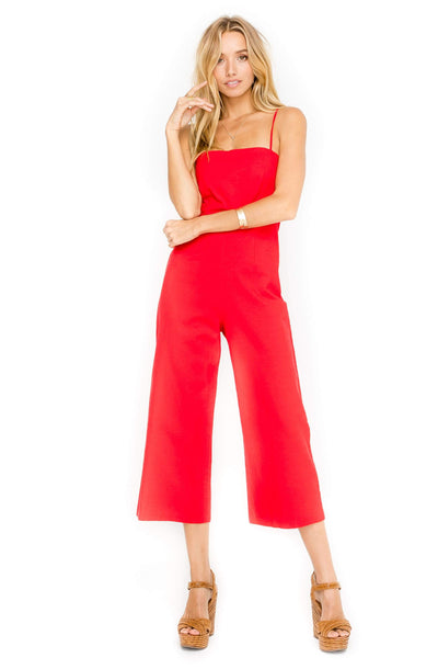 Fitted Linen Jumpsuit