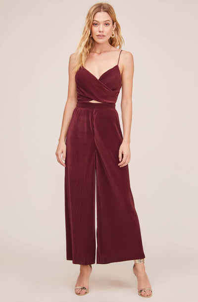Pleated Cutout Jumpsuit