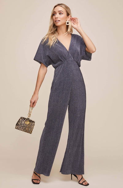 Metallic Dolman Jumpsuit