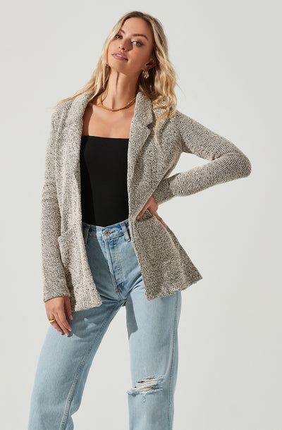 Long Sweater Blazer