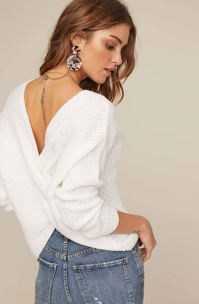Twist Back Sweater