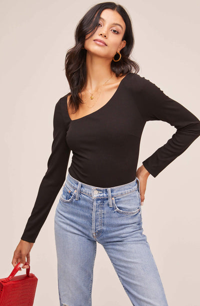 Esme Asymmetrical Neck Bodysuit