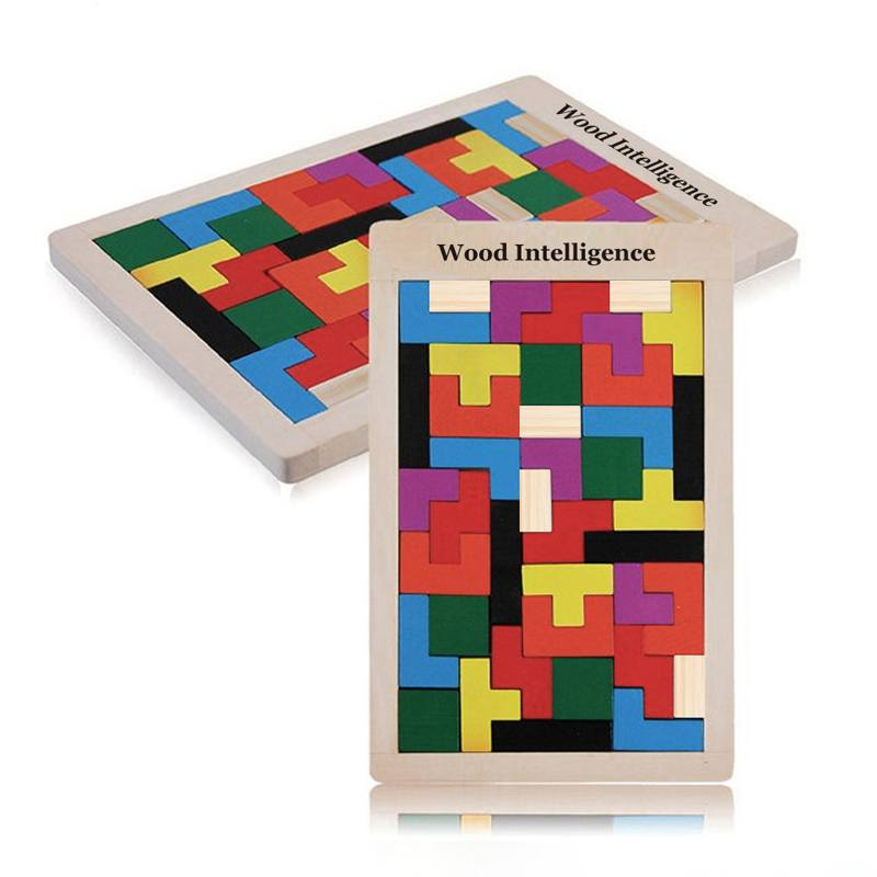 Board Game - Colorful Wooden Tetris Puzzle