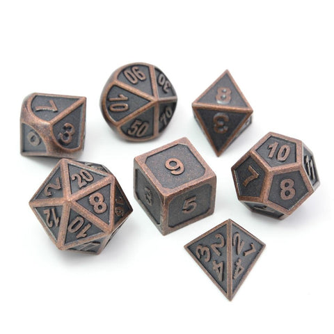 Image of Dice - Battle Scarred Metal Dice Sets (7 Pieces)